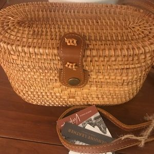 Gorgeous Rattan hand crafted bag❤️